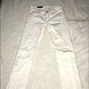 J. Crew white match stick denim pants 25 short